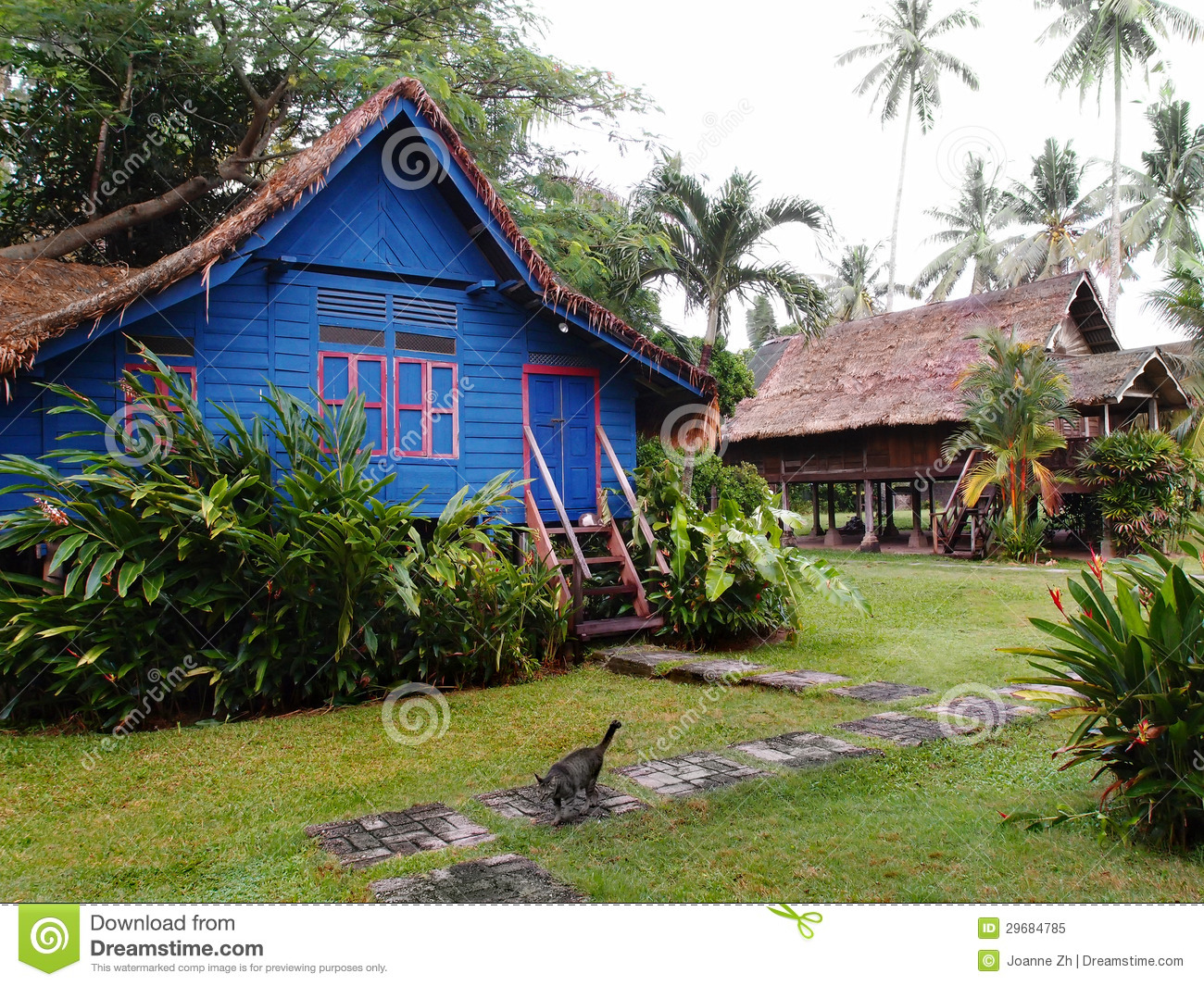 Traditional Antique Village Houses Malaysia Royalty Free Stock Photo  Image 29684785