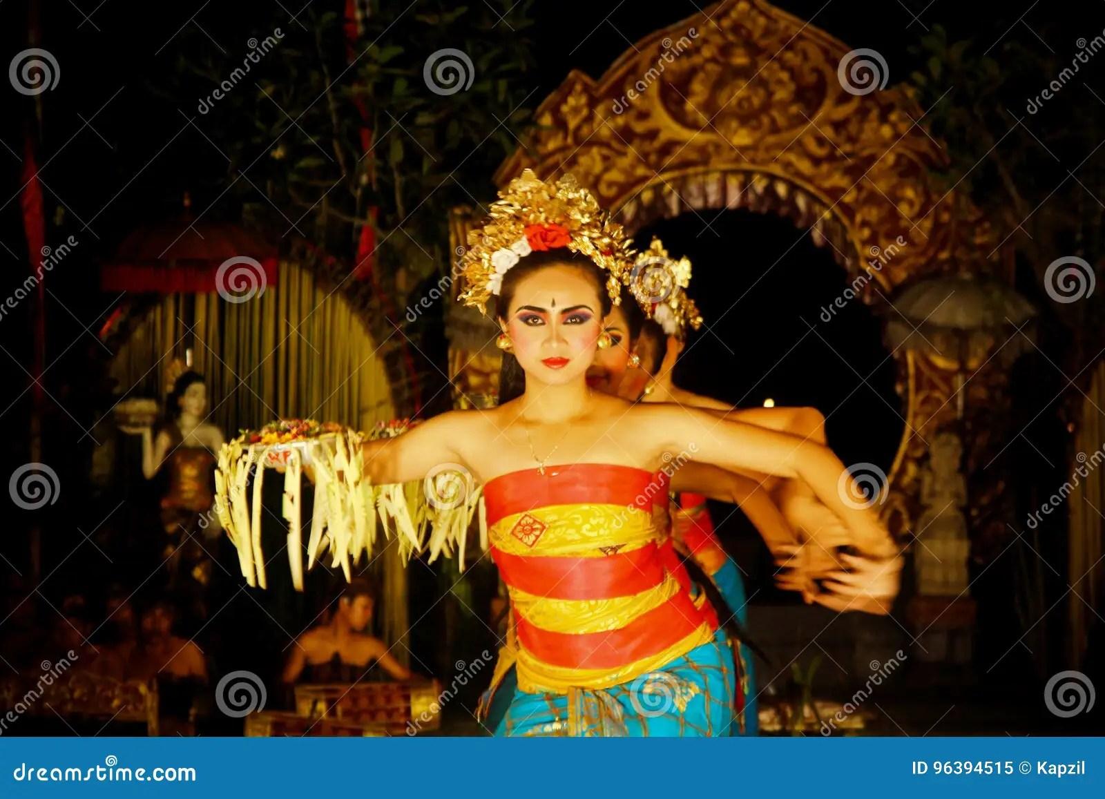 traditional bali dancers editorial