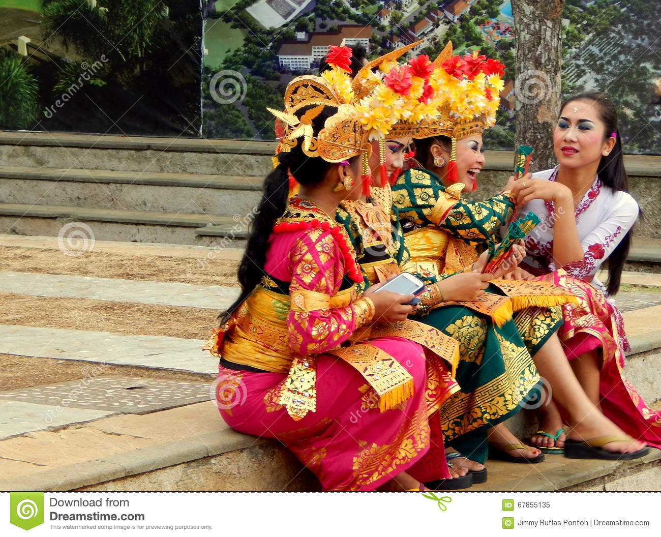 traditional balinese dancer editorial