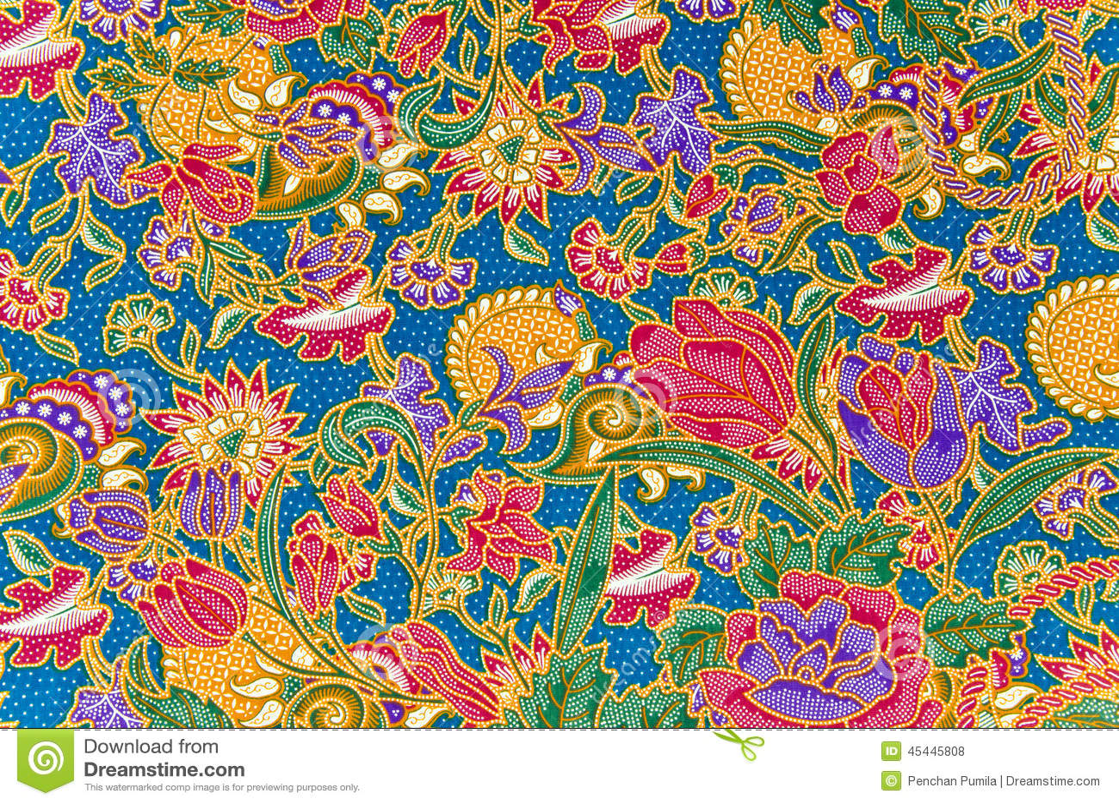 Traditional Batik Sarong Pattern Stock Photo  Image