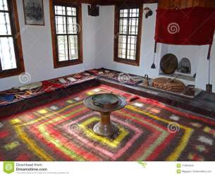 Traditional Bulgarian Medieval Living Room Stock Photo Image of ancient inside: 113944244