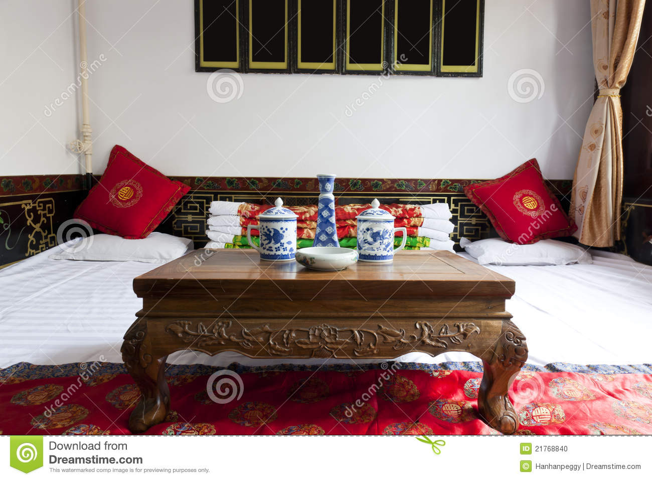 Traditional Chinese House Interior Stock Photo  Image 21768840