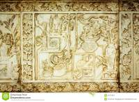 Traditional Chinese Stone Engrave Art Wall. Royalty Free ...