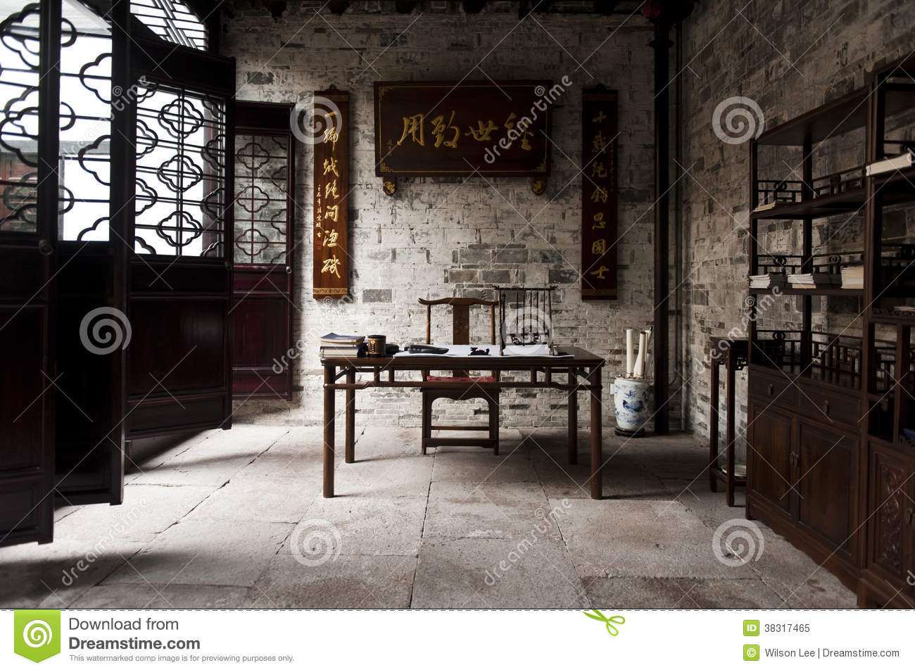 Traditional Chinese Study Room Royalty Free Stock Photo  Image 38317465