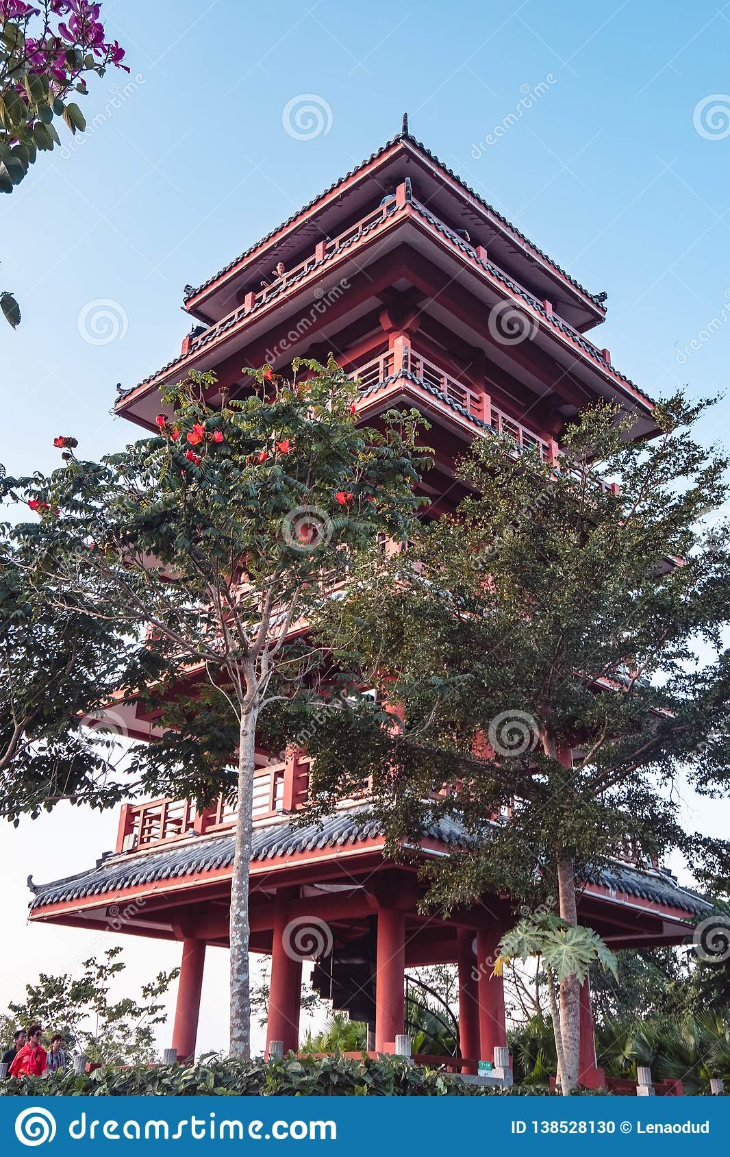 Traditional Chinese Temple Of Red Color Stock Photo