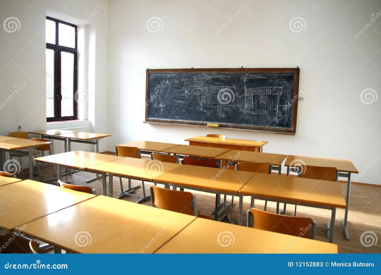 Traditional Classroom Interior Stock Image  Image 12152883