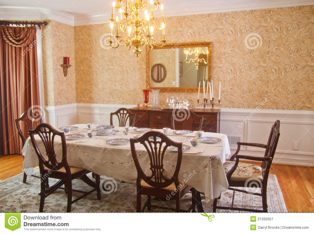 elegant dining room chairs toddler upholstered traditional royalty free stock photography - image: 21332057