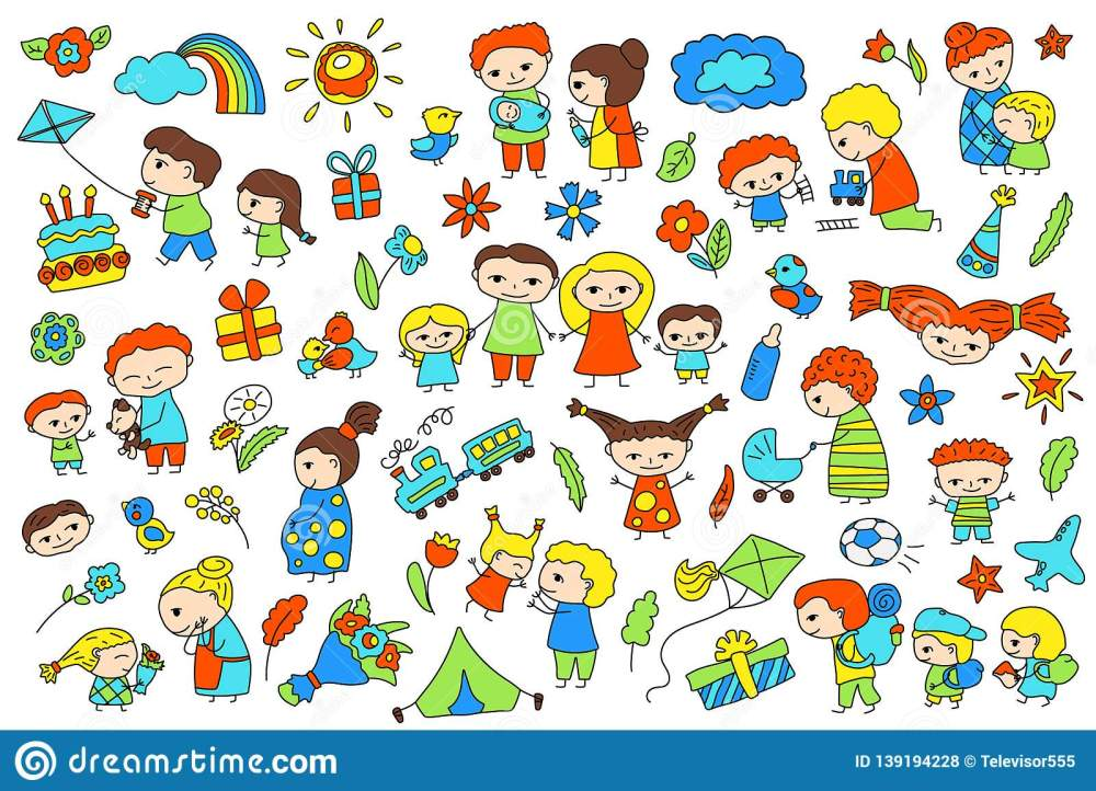 medium resolution of traditional family with parents and children child birthday baby shower vector clipart parenthood and