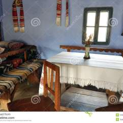 Vintage Wooden Chairs Overstock Arm Chair Traditional Romanian House Interior Royalty Free Stock Images - Image: 24609159