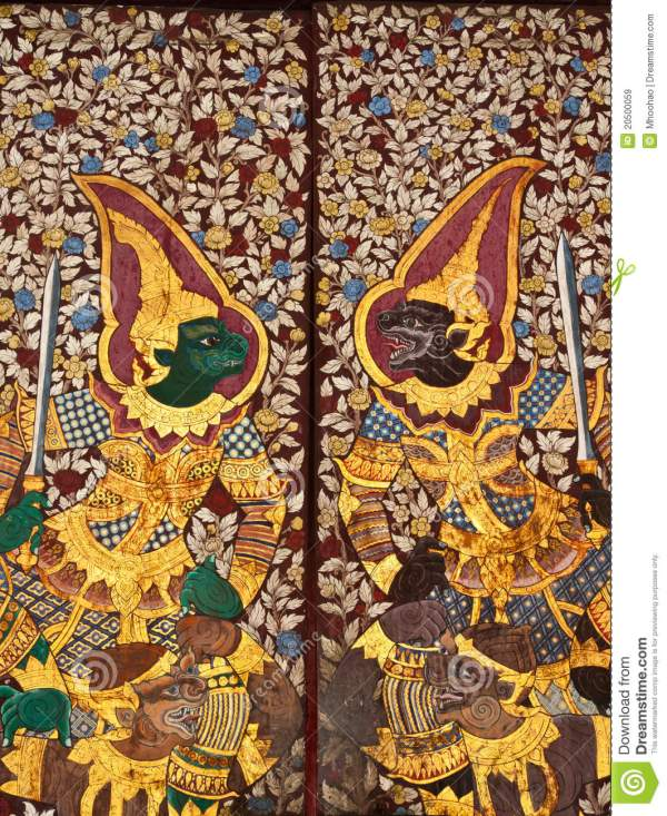 Traditional Thai Art Paintings Royalty Free Stock