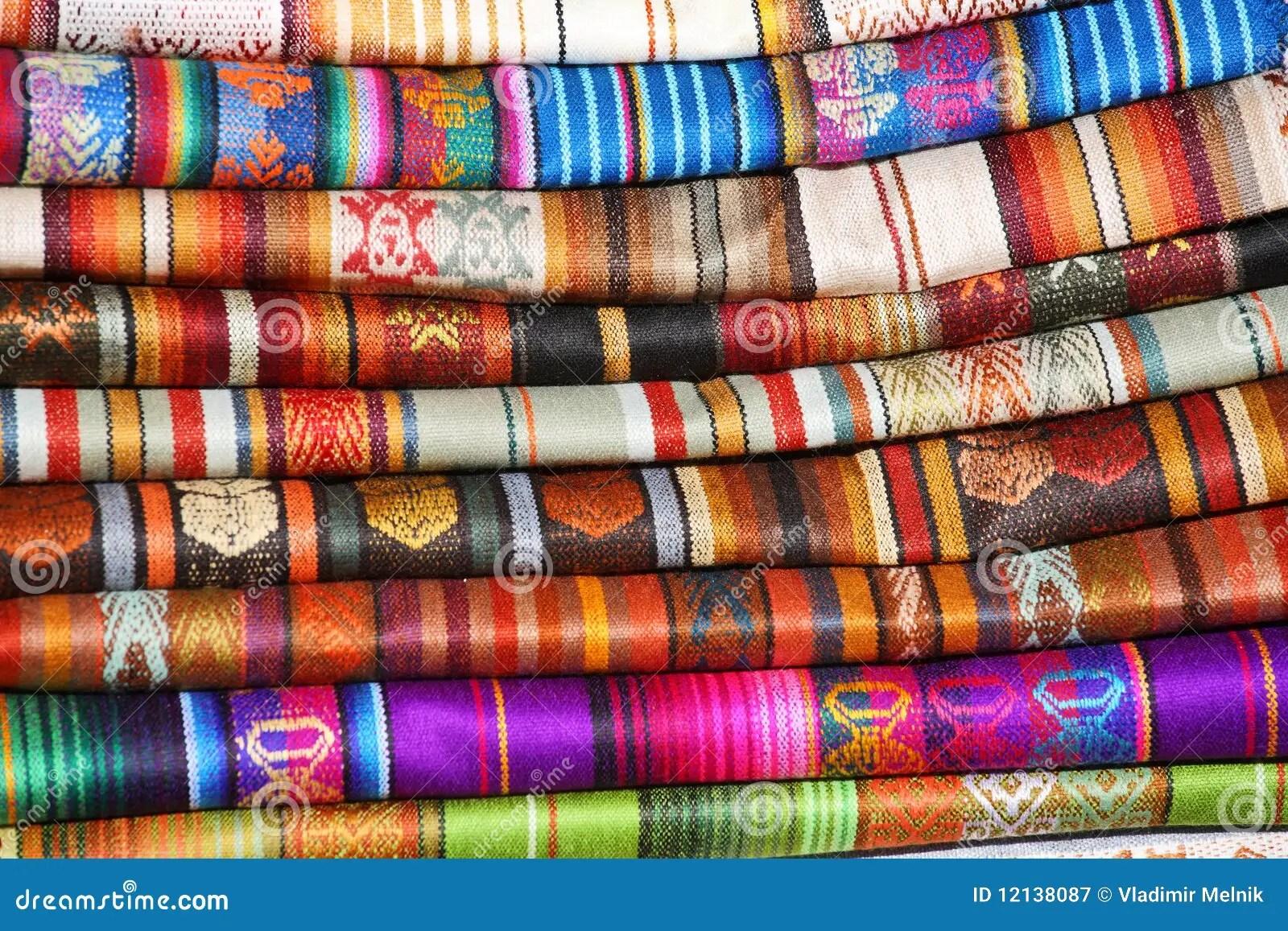 Traditionele stoffen stock afbeelding Afbeelding