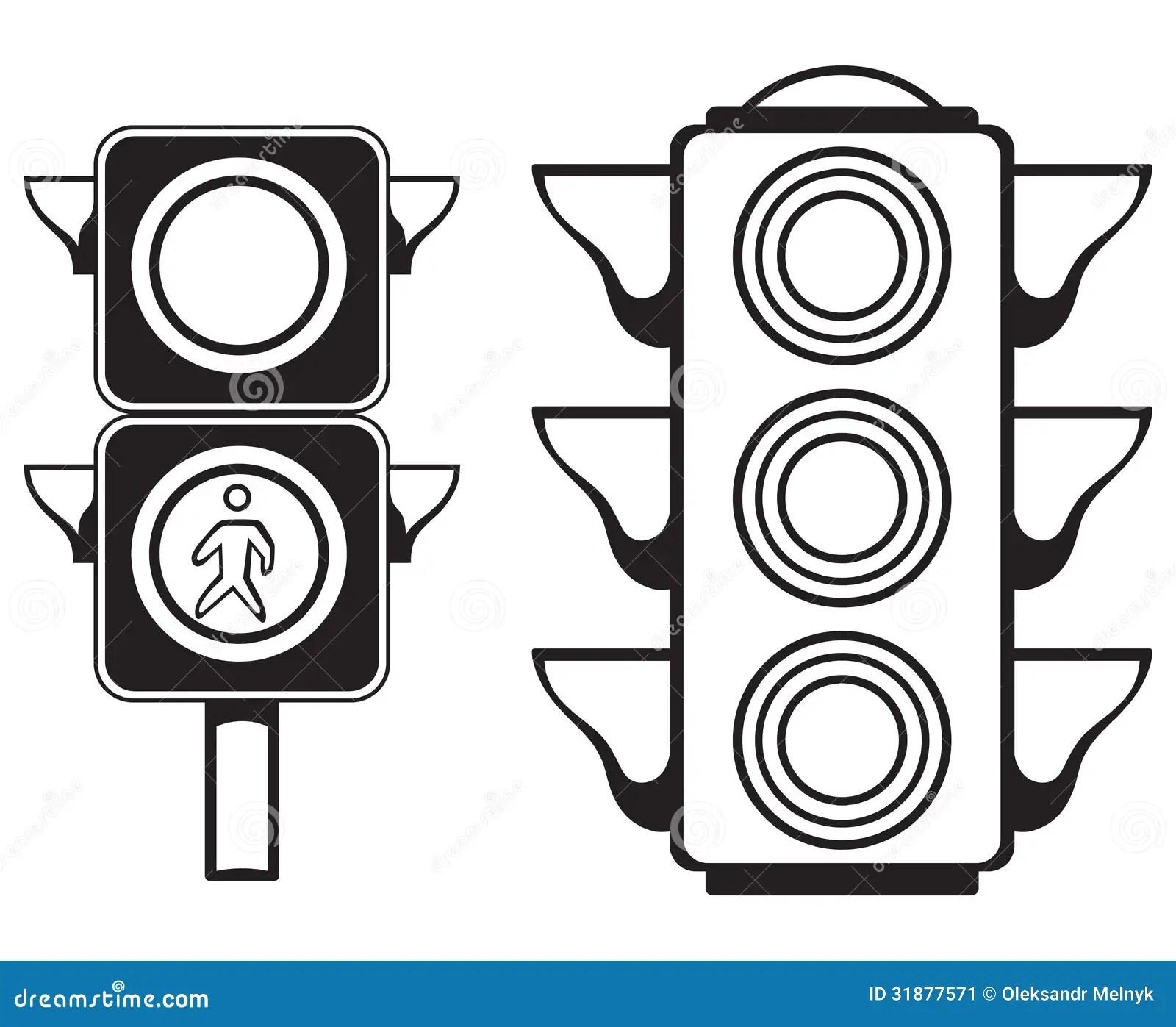 Traffic light stock vector. Illustration of black