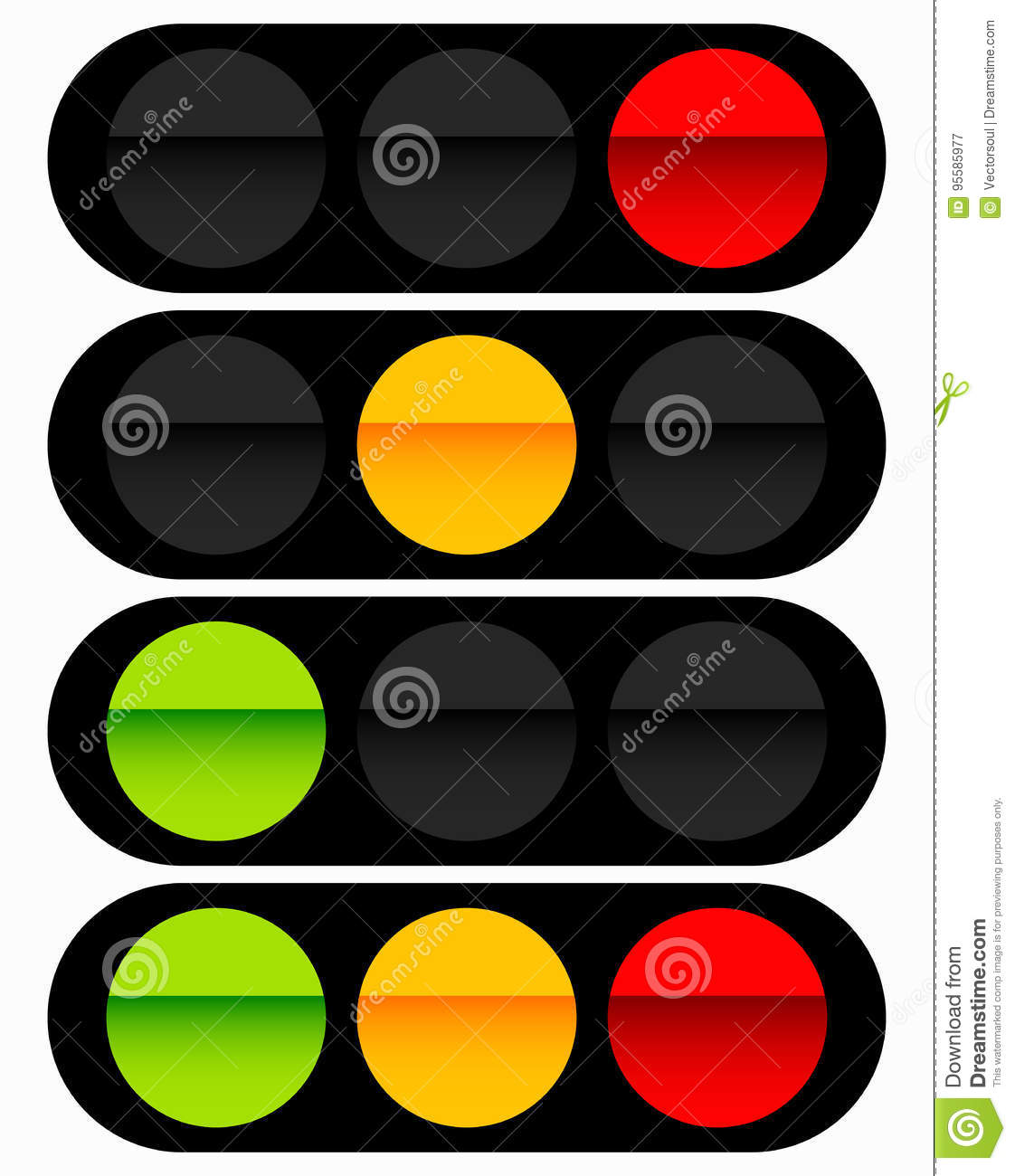 hight resolution of traffic light traffic lamp icon in set semaphore with green y