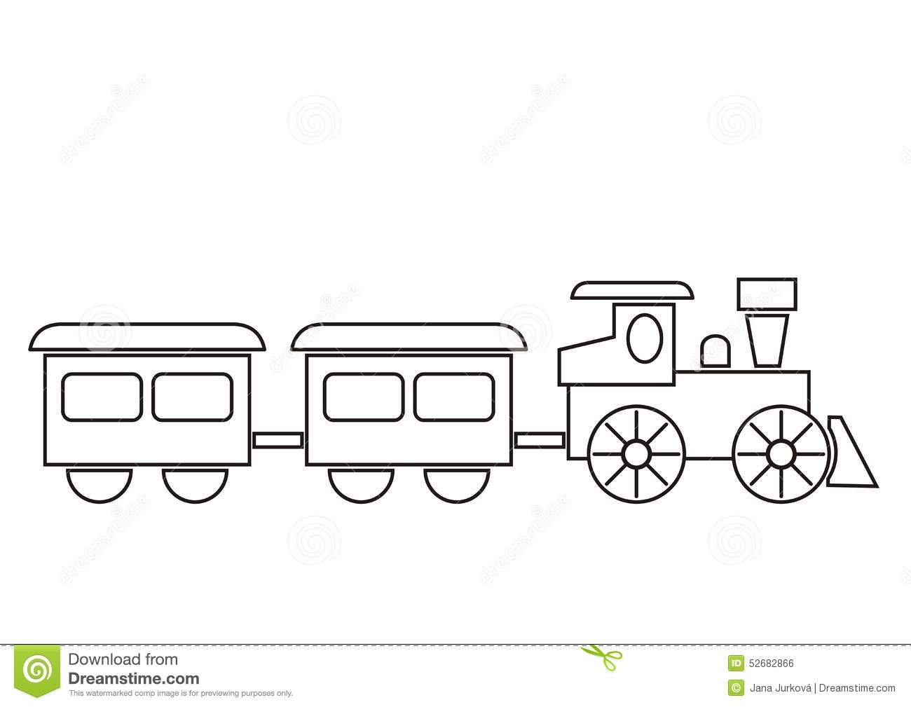 Train Coloring Book Stock Vector Illustration Of Picture