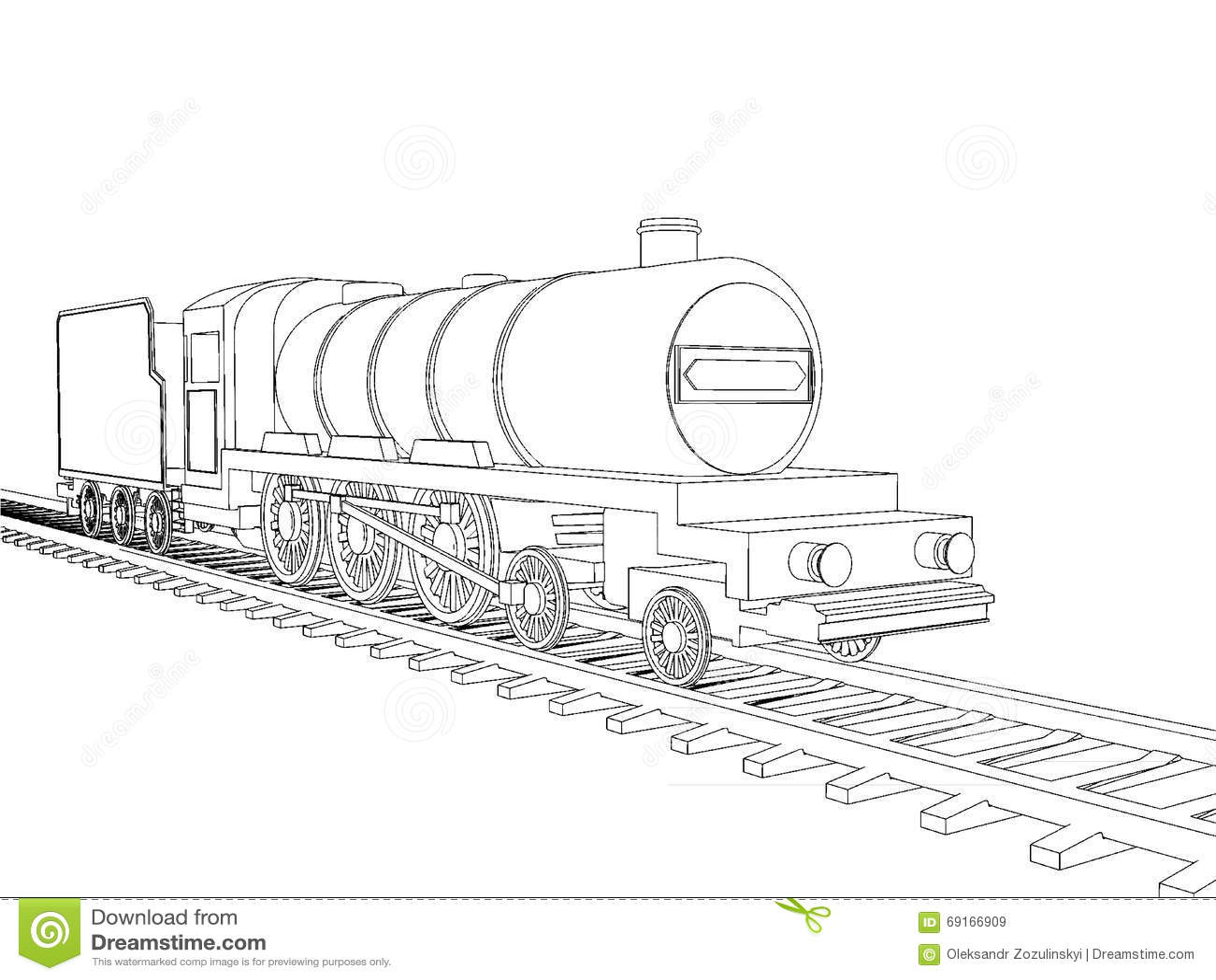 Train outline vector stock vector. Illustration of modern