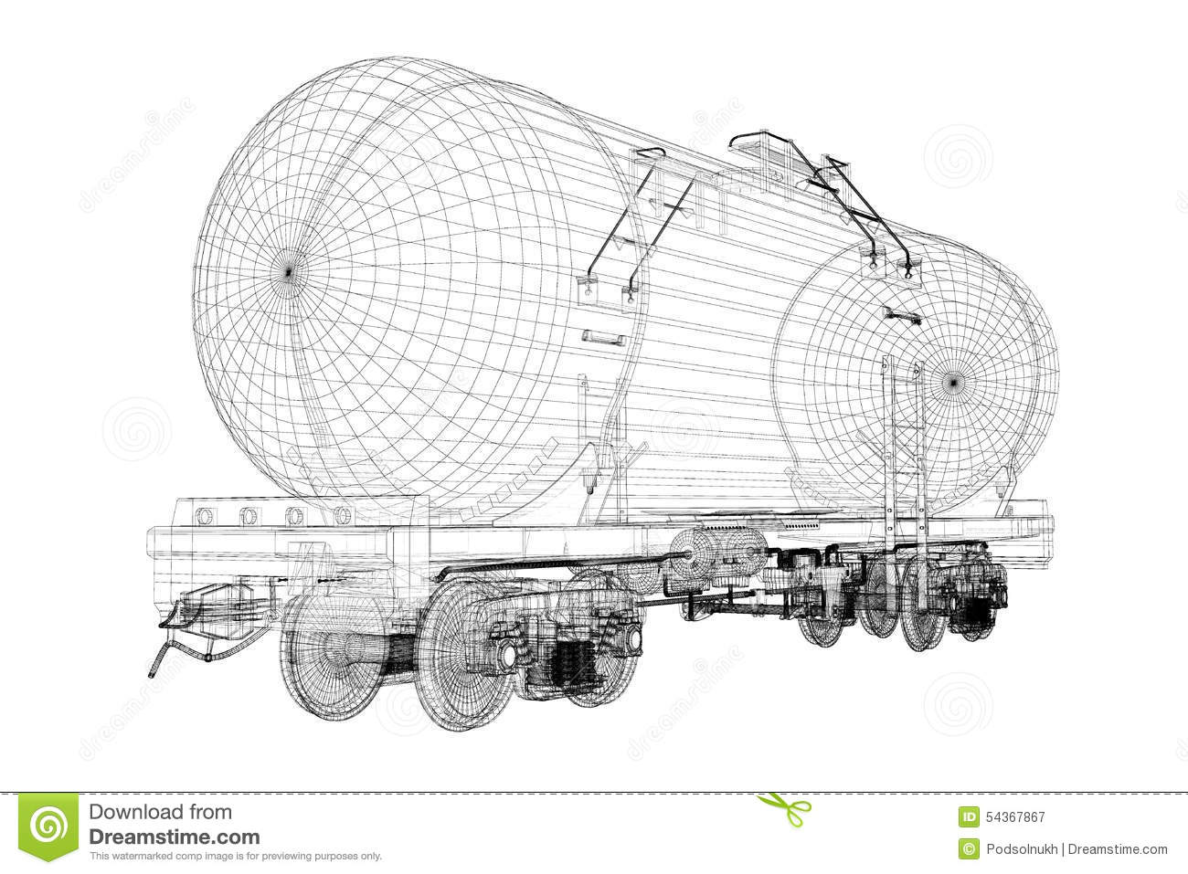 Freight Train With Gasoline Tanker Cars Stock Photography