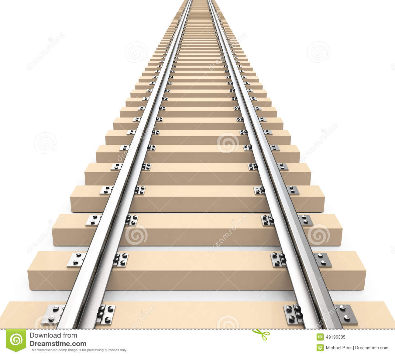 hight resolution of 3d generated picture of a train track