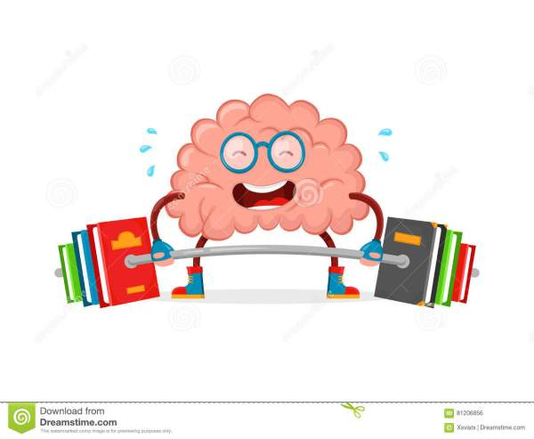 Cartoon Smart Brain Clip Art