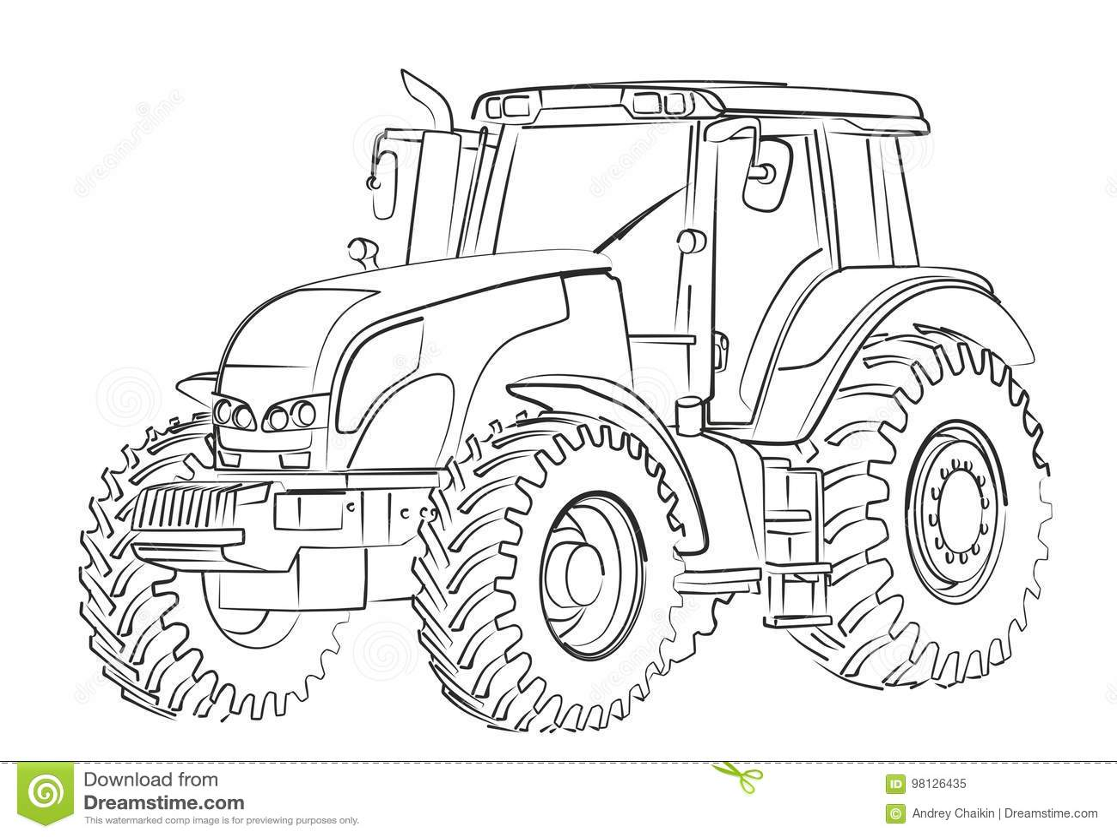 Traktor Skizze Vektor Abbildung Illustration Vonsel