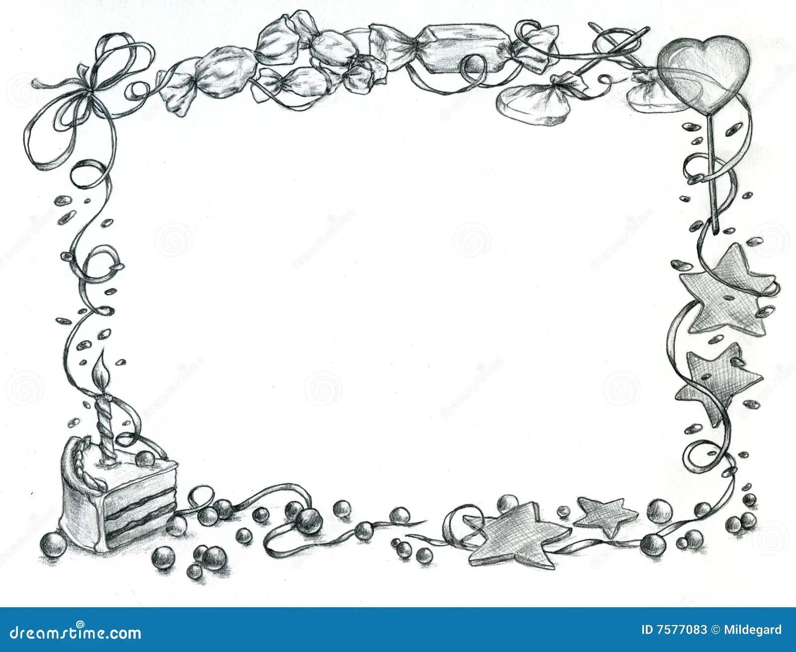 Trame De Joyeux Anniversaire Illustration Stock