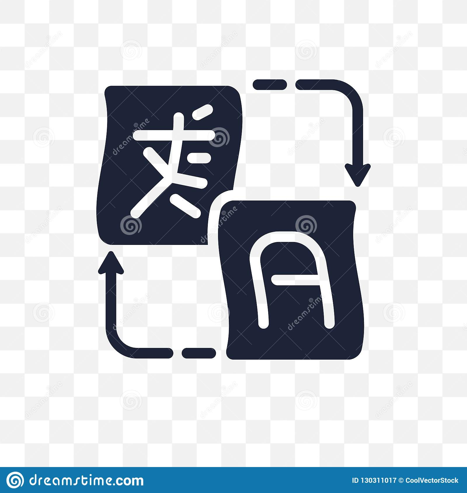 Translation Transparent Icon. Translation Symbol Design From Online Learning Collection. Simple Element Vector Illustration. Can Stock Vector ...