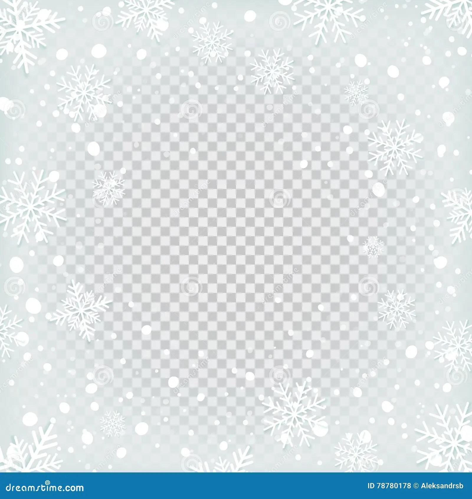 Transparent Snow Background Stock Vector