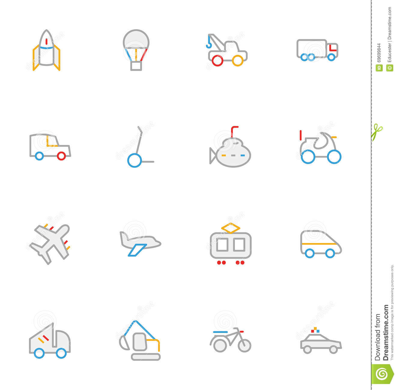 Colored Dumper Icon Dump Track Royalty Free Stock Image