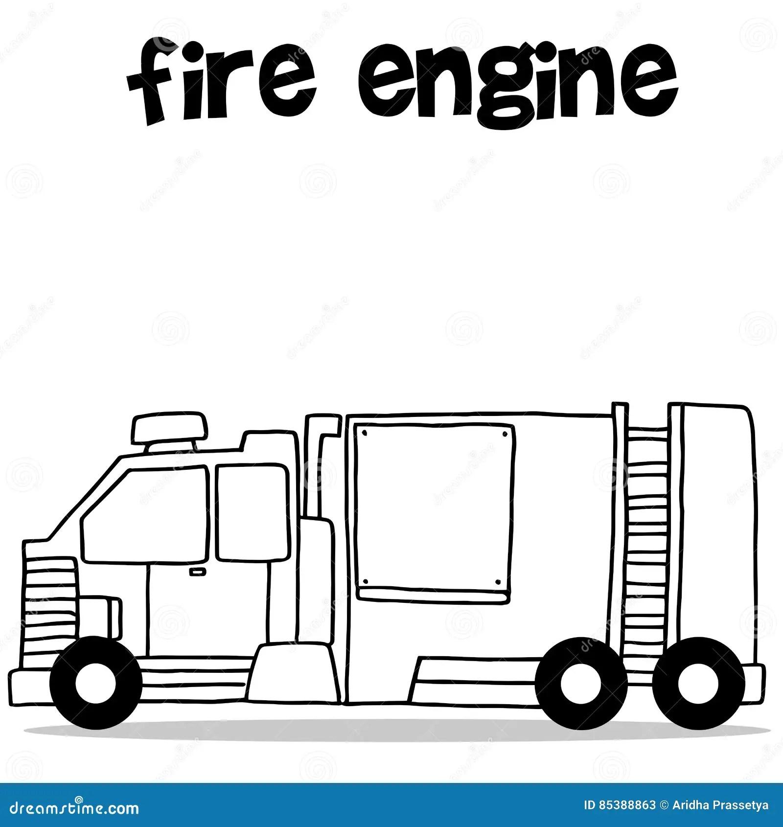 Transport Of Fire Engine Vector Art Stock Vector