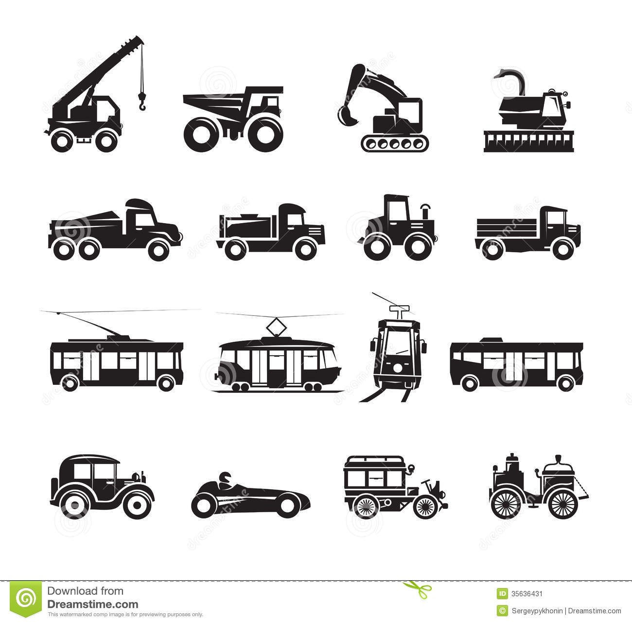 Transportation Icons Set Stock Vector Image Of Icon