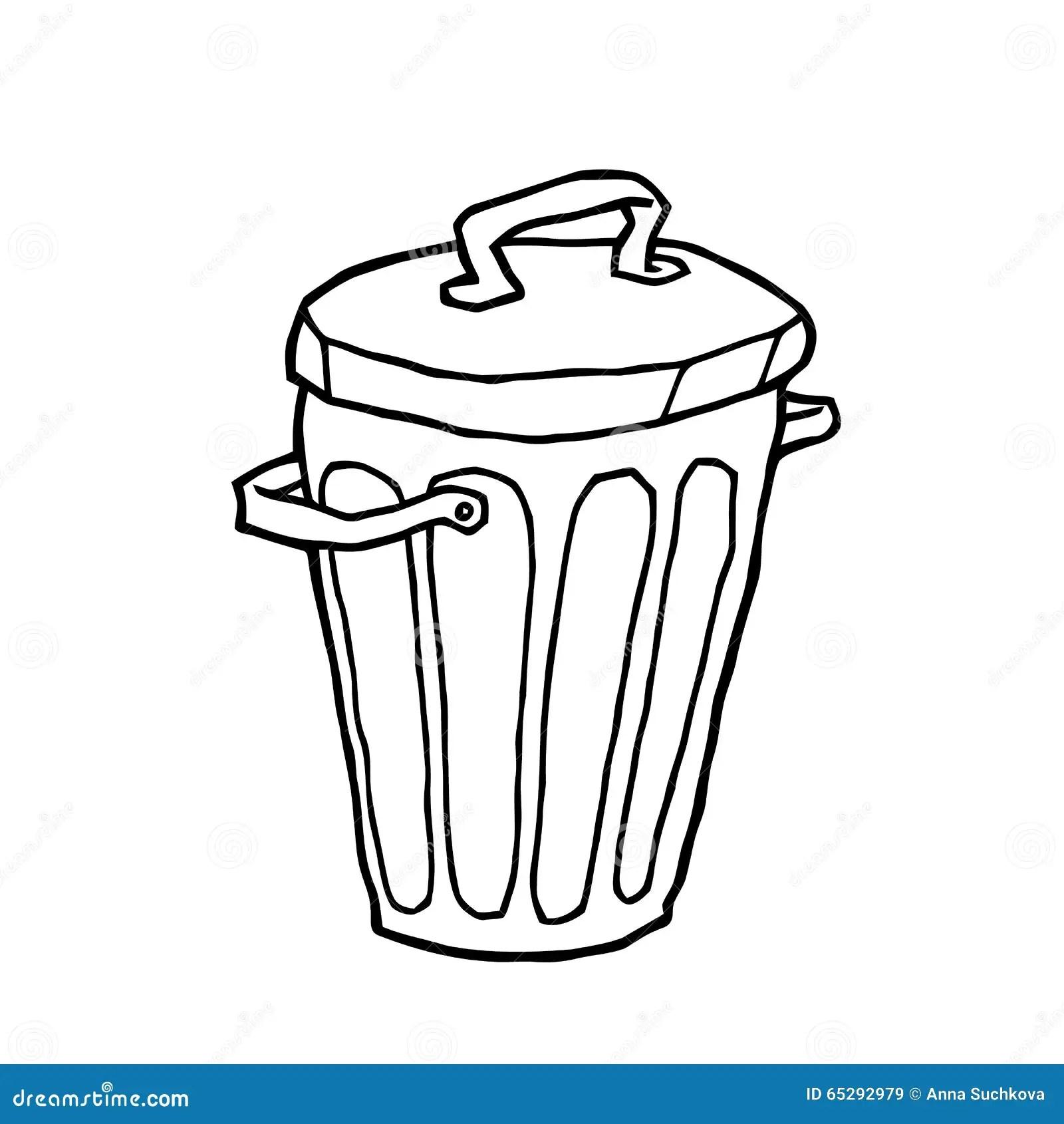 Trash Can Stock Vector Illustration Of Vector Draft