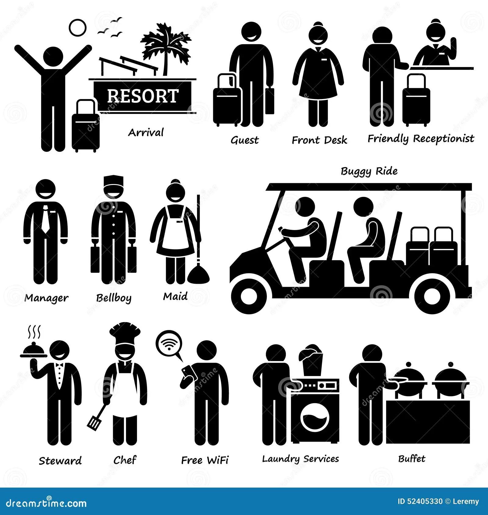 Travailleur De Touristes Et Services Cliparts D Hotel De