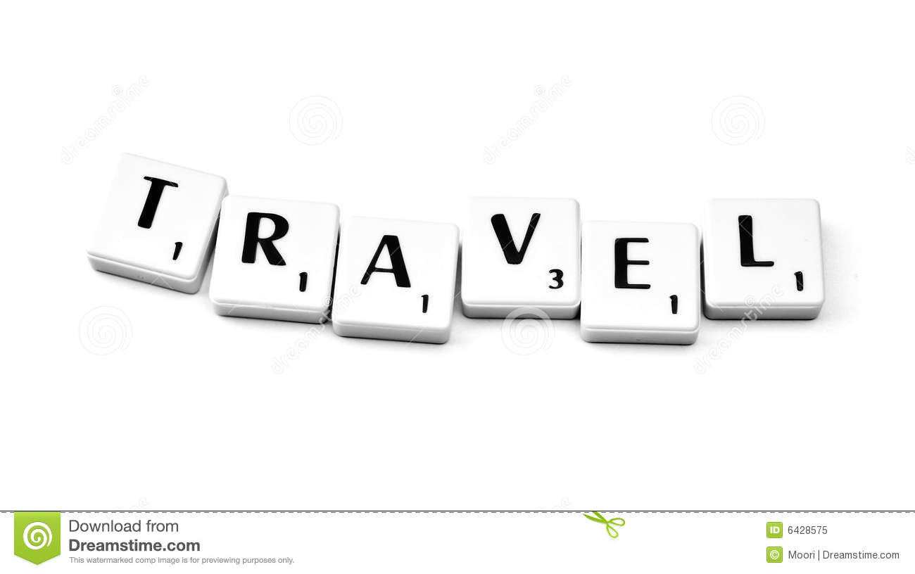 Travel stock image. Image of travel, scrabble, activity