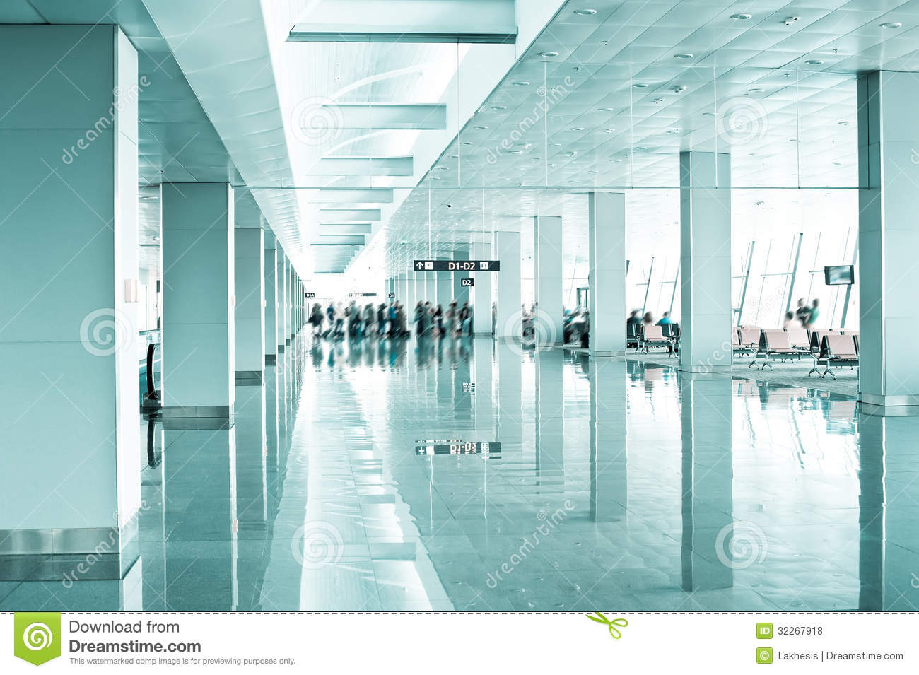 Travel Concept Modern Airport Terminal Royalty Free Stock