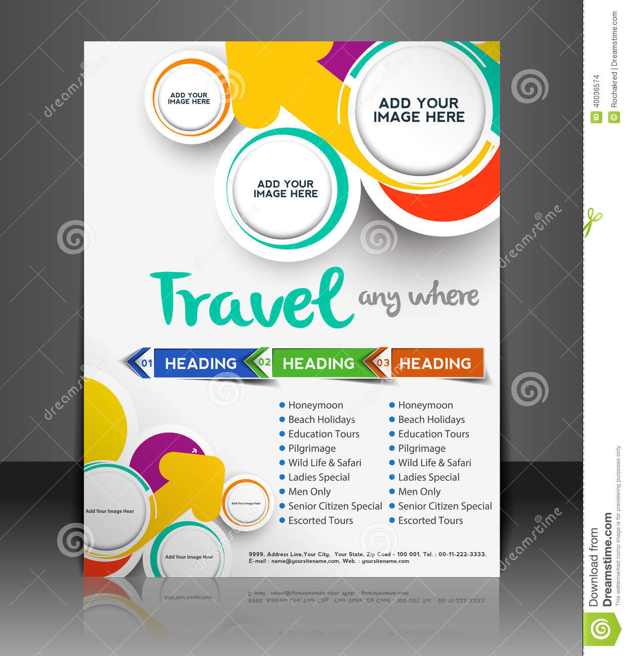 Sample Travel Brochure Template Tourist Brochure Template Travel