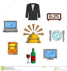 Travel And Hotel Luxury Service Icons Stock Vector