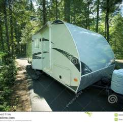 Camping Trailer Usa Ruud Wiring Diagram Travel In Rv Park Royalty Free Stock Image