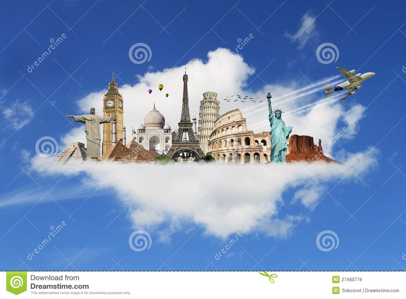 Travel The World Monument Concept Royalty Free Stock