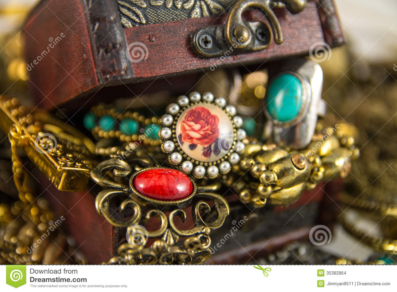 Treasure Chest Stock Photo Image Of Blue Chest Jade