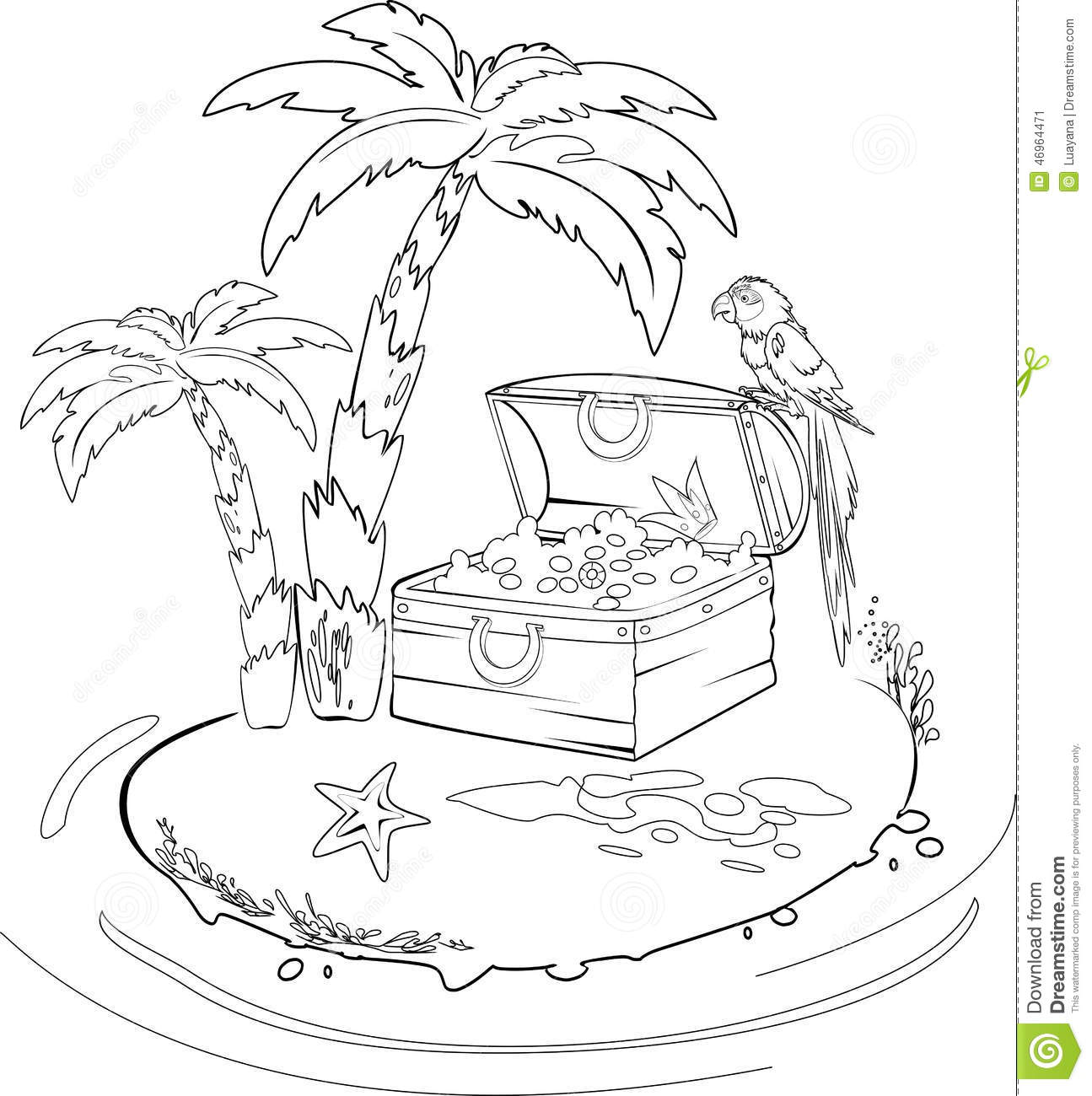 Treasure Island Stock Vector Illustration Of Plant Oasis