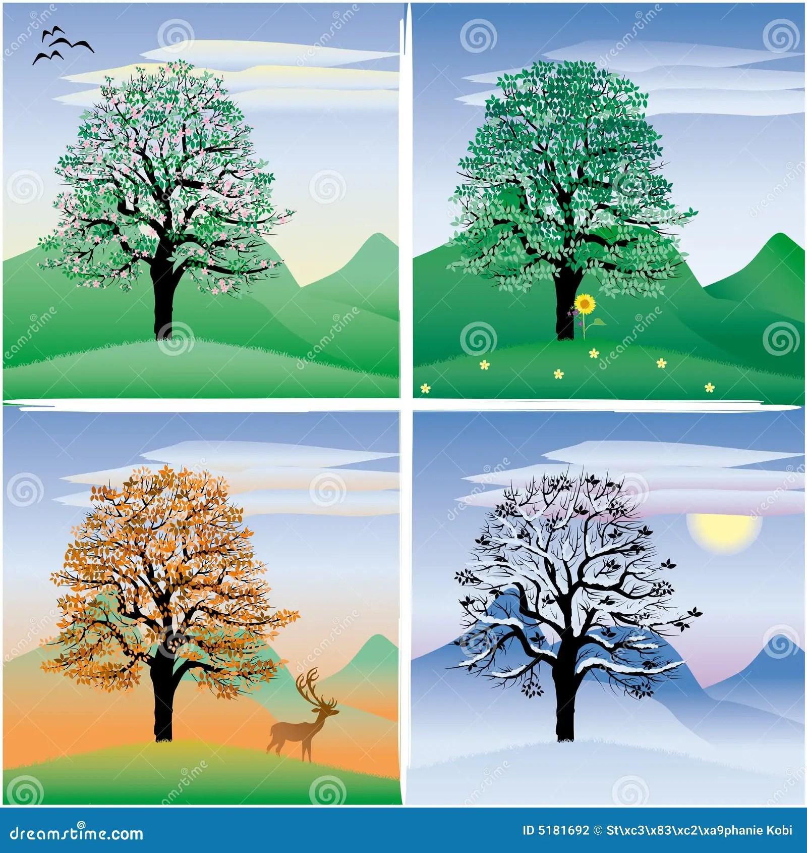 Tree stock illustration Illustration of autumn winter