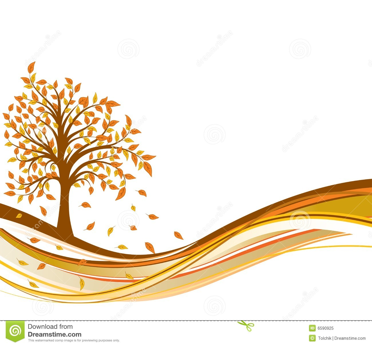 Falling Leaves Wallpaper Free Download Tree Autumn Background Vector Royalty Free Stock Photo