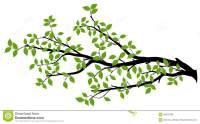 Tree Branch Silhouette, Vector Graphics Stock Illustration ...
