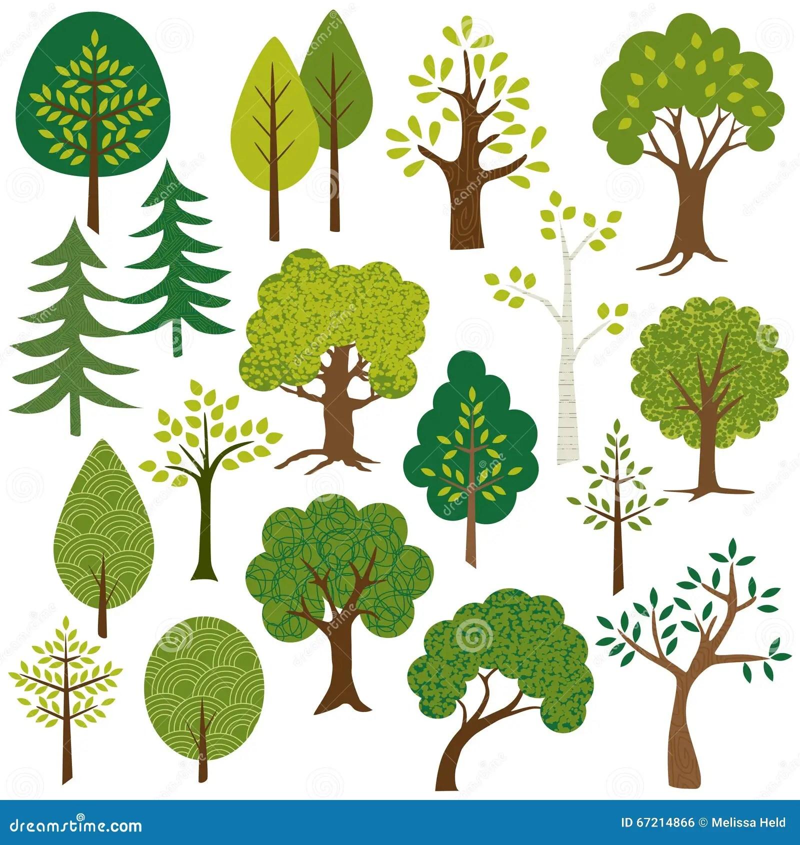 tree clip art stock