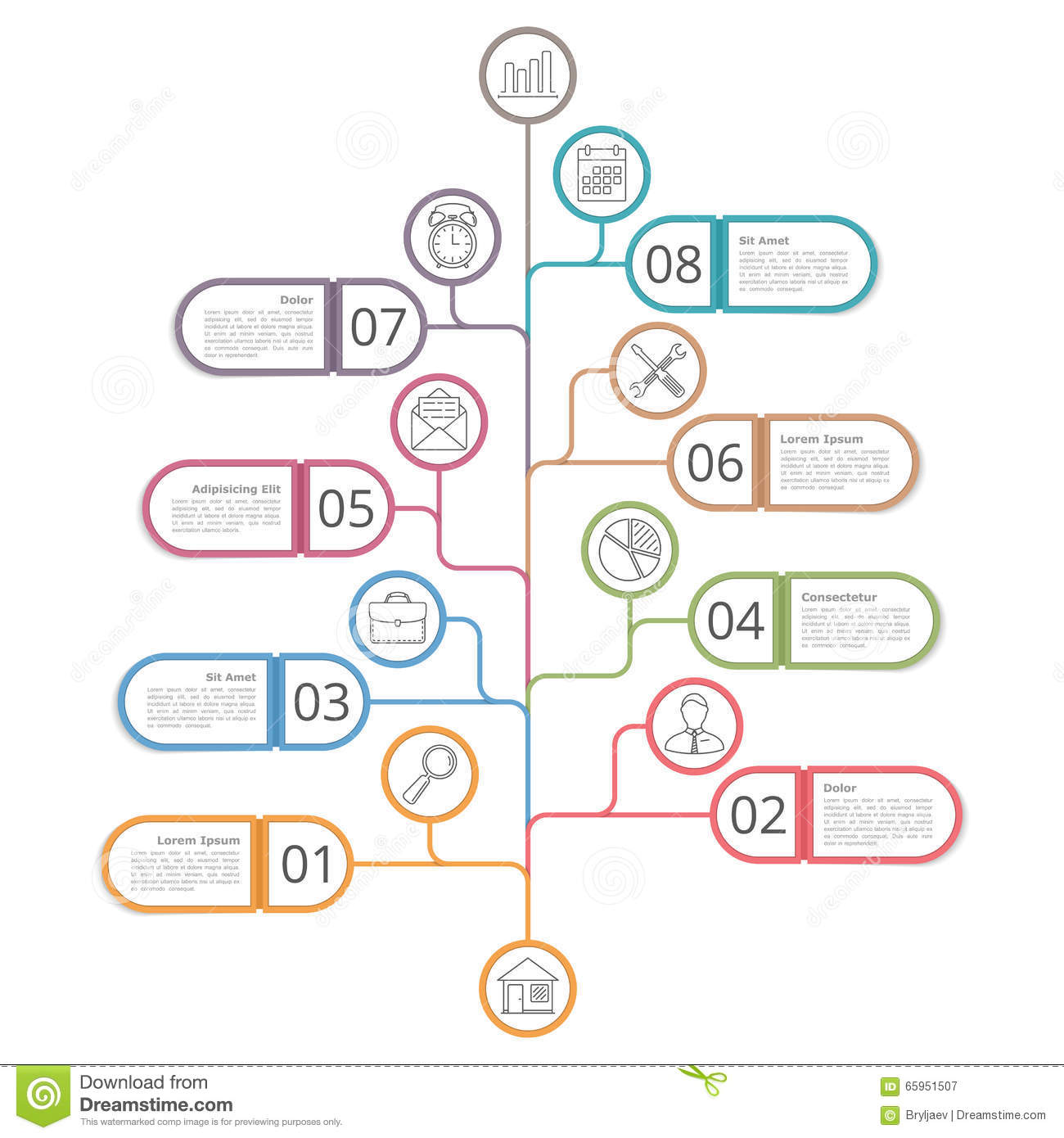 what is a number line diagram autometer temp gauge wiring tree stock vector image of option