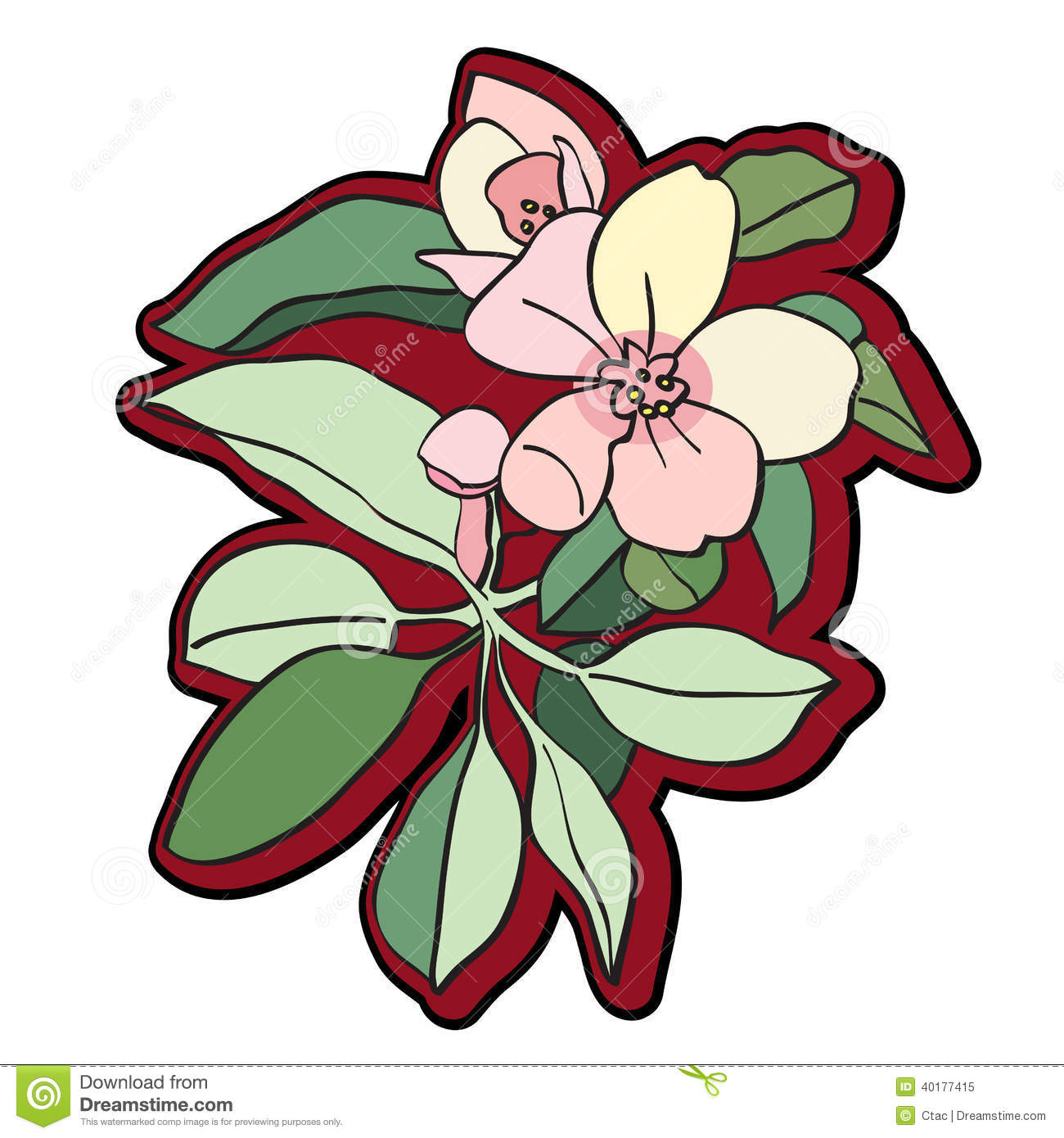 hight resolution of tree flower clipart