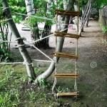 Tree House Ladder Rope Stock Image Image Of Plank 120696553