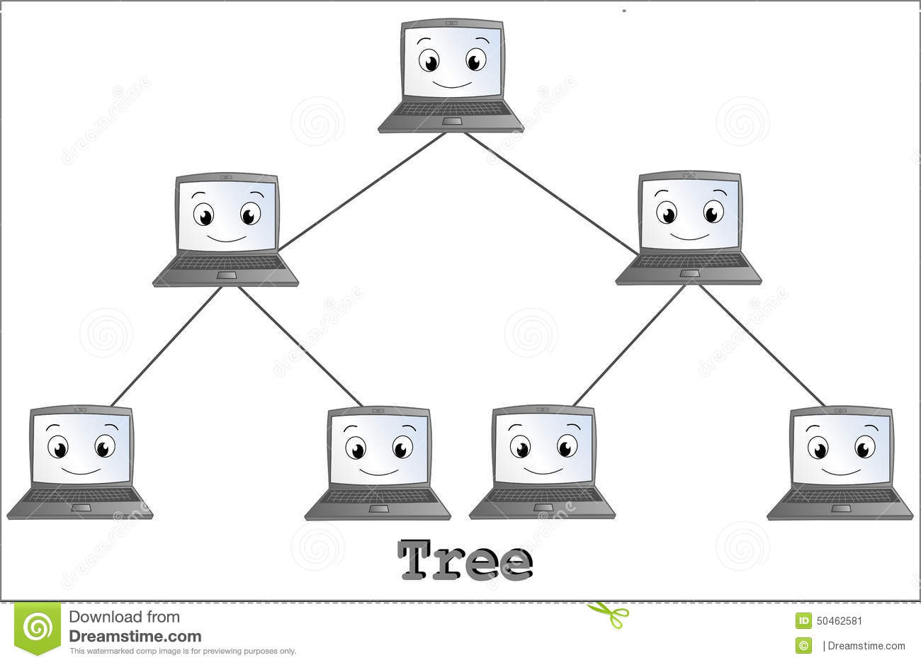 Tree Network Topology Stock Illustration Image Of Data