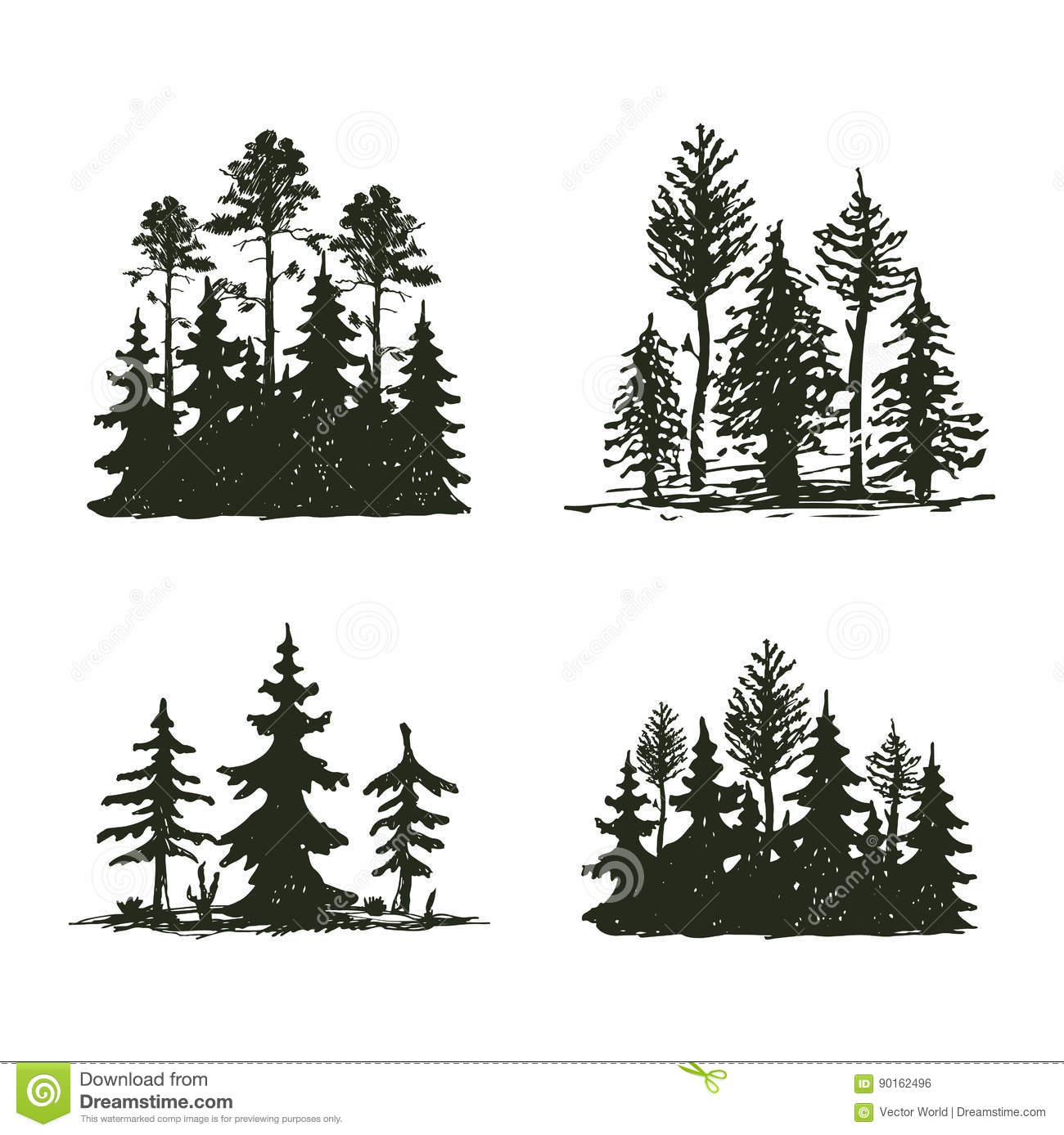 Tree Outdoor Travel Black Silhouette Coniferous Natural