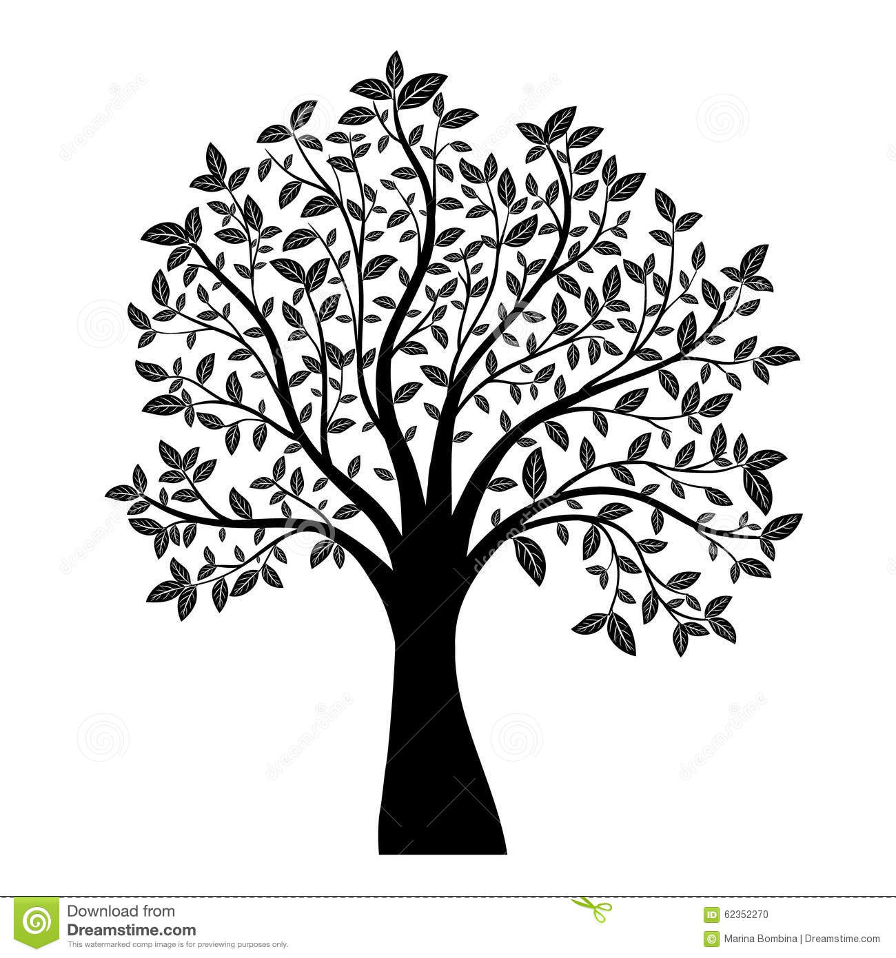 tree silhouette stock vector