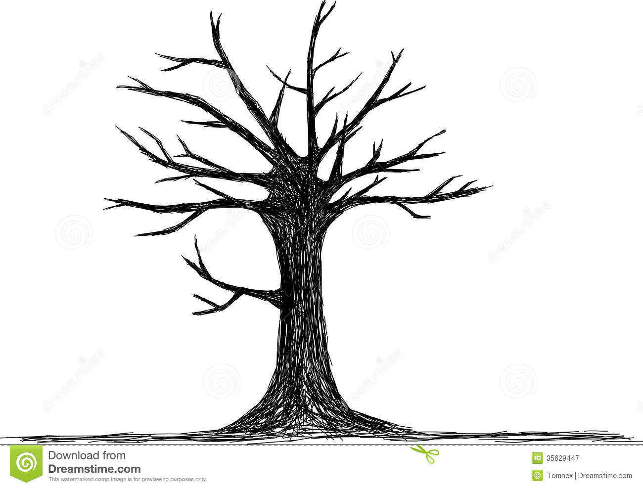 Tree Silhouette Stock Vector Illustration Of Branch